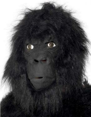 Adult Fancy Dress - Overhead Gorilla Mask - Full Head Mask